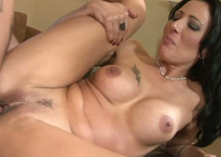Desirable brunette hair bitch Zoey Holloway gets her juicy muff nailed