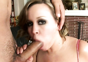 Brandy Talore with bubbly butt having sensual sex