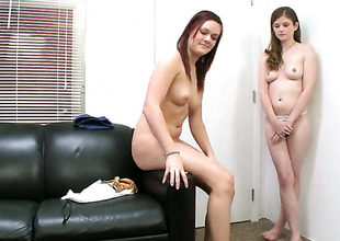 Brunette hair Lara Brookes wants Kacee Daniels to take up with the tongue her bush forever