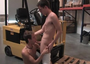 Jesse Jacobs stands in the warehouse taking inventory when in walks Alex Dade looking for a job. Jesse looks him up and down and tells him he's plan to have to get proper attire, since flip flops and a lengthy sleeve t-shirt won't cut it with stinky indecent w