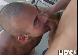 Two sexy young dudes are flirting under a canopy and we have to join into the scene as things go from sexy to sexual.  This 20 minute scene progresses effortlessly from an extremely forward advance, stroking cock while standing jointly and talking, on to a fr