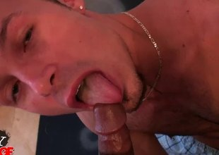 Interracial POV clip of anal screwing twinks
