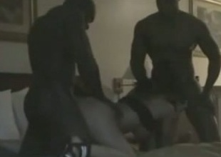 My black buddy and me enjoying interracial MMF sex with a hooker