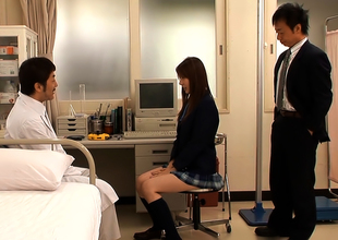 Yui Tatsumi Sassy Oriental Schoolgirl In Hot Threesome Action