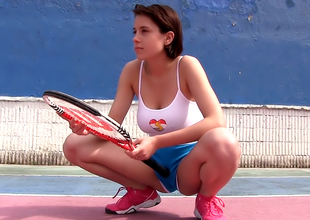 Breasty tennis hottie