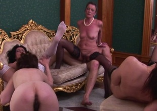 A hot and horny particular older sexparty gets wild