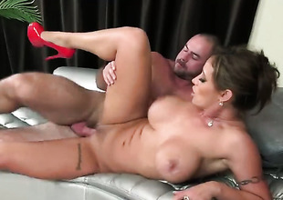 Huge love bubbles milf is licking a dick