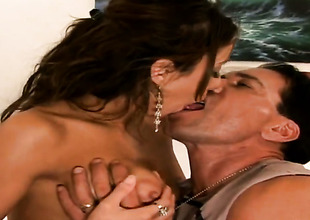 Marco Banderas bangs ultra sexy Priscilla Millans mouth just like eager
