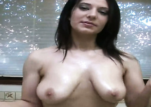 Mature does her superlatively good to make your schlong harder in solo action