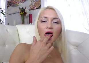 Yet some other one of 'em hot blondes and this babe unconditionally likes some anal pounding. For this blonde bibmbo, its the first time having anal so give her a round of applause for encouragement
