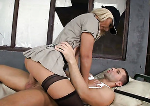 Blond Lana S gets a pussy stuffing