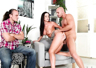 Cindy Dollar lets guy stick his thick pole in her mouth