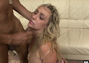 Chubby MILF Wanda can not ever get sufficiently of a black meat ravaging
