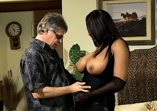 Carmen Hayes gets her flawless slit filled up with unbending knob