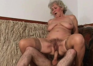 Lusty granny wants to have her cunt filled by a juvenile stallion