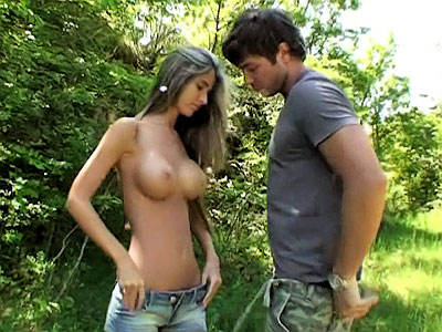 Horny hot gorgeous busty girl getting nailed hard outdoors from Casual Teen Sex